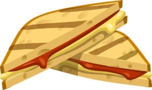 Бутерброд На Гриле, Закуска, Питание, Хлеб Свежий